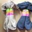 S592 **พร้อมส่ง** (ปลีก+ส่ง) ถุงเท้า เพื่อสุขภาพ ผลิตจากเส้นใยไม้ไผ่ ข้อยาว เนื้อถุงน่อง มีลายที่ขอบ มี 2 สี ,10 คู่ต่อแพ็ค เนื้อดี งานนำเข้า(Made in China) thumbnail 1