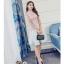 ชุดเดรสสวยๆ ตัวเสื้อผ้าลูกไม้เนื้อดีสีชมพู ชายเสื้อเฉียงเหมือนแบบ thumbnail 6