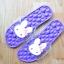 K020-PU **พร้อมส่ง** (ปลีก+ส่ง) รองเท้านวดสปา เพื่อสุขภาพ ปุ่มใหญ่สลับเล็ก (การ์ตูน) สีม่วง ส่งคู่ละ 150 บ. thumbnail 4