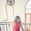 ชุดเดรสยาว เดรสราตรียาว ผ้าชีฟองชนิดเนื้อเงา (elegant chiffon dress) สีแดง ซีทรูช่วงไหล่ เย็บย่นจับจีบช่วงหน้าอก thumbnail 4