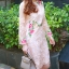 ชุดเดรสสวยๆ ผ้าลูกไม้ ปักลายดอกไม้สีครีม thumbnail 3