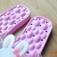 K020-PPK **พร้อมส่ง** (ปลีก+ส่ง) รองเท้านวดสปา เพื่อสุขภาพ ปุ่มใหญ่สลับเล็ก (การ์ตูน) สีชมพูอ่อน ส่งคู่ละ 150 บ. thumbnail 7
