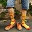 S375**พร้อมส่ง** (ปลีก+ส่ง) ถุงเท้าแฟชั่นเกาหลี ชาย ข้อยาว เนื้อดี งานนำเข้า(Made in china) thumbnail 14