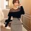 เสื้อผ้าแฟชั่นเกาหลี Set 2 ชิ้น ( เสื้อและกระโปรง) thumbnail 1