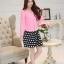 แฟชั่นเกาหลี set เสื้อสูท สีชมพู และกระโปรง สวยมากๆ thumbnail 8