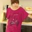 เสื้อยืดแฟชั่น ผ้านุ่ม ชายเสื้อดึงยาง ลาย Bicycle City สีชมพูบานเย็น thumbnail 1