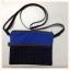 กระเป๋าสะพาย ติดซิป 2 ชั้น ทรงสี่เหลี่ยมแนวนอน สีน้ำเงิน thumbnail 1