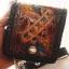 กระเป๋าสตางค์ลวดลายดอกไม้ 2 พับ พร้อมโซ่ Line id : 0853457150 thumbnail 1