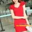 Pre-Order ชุดราตรีสั้น ชุดเดรสสั้น Brand Fu daiyi คอวี สีแดง-สีดำ แขนกุด ผ้าโพลีเอสเตอร์ ยืดหยุ่นดี ไม่ยับง่ายไม่ต้องรีด สวยมากๆ สินค้าเกรด A thumbnail 1