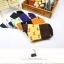 S359**พร้อมส่ง** (ปลีก+ส่ง) ถุงเท้าแฟชั่นเกาหลี ข้อยาว คละ 6 สี มี 12 คู่ต่อแพ็ค เนื้อดี งานนำเข้า(Made in China) thumbnail 4