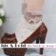[พิเศษ 2 คู่ 100 ] ถุงเท้าขอบระบายน่ารักแนววินเทล มี 5 สี thumbnail 2