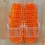 K012-OR**พร้อมส่ง** (ปลีก+ส่ง) รองเท้านวดสปา เพื่อสุขภาพ ปุ่มเล็ก (ใส) สีส้ม ส่งคู่ละ 80 บ. thumbnail 2