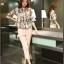 แฟชั่นเกาหลี set เสื้อ และกางเกงขายาว น่ารักมากๆ thumbnail 1