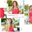 ชุดว่ายน้ำทูพีช สีแดงแตงโม สดใสน่ารักมากๆ มีกางเกงขาสั้นแยกให้ thumbnail 5