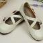 Pre-Order รองเท้าตุ๊กตา-สีขาวเทา thumbnail 4