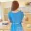 ชุดเดรสสั้น แฟชั่นน่ารัก ชุดเดรสสั้น สีฟ้า เสื้อตัวนอกผ้าชีฟอง ตัวในผ้ายืดเข้ารูปสีขาว เย็บไหล่ติด พร้อมสร้อยและเข็มขัดน่ารักๆ สวยมากๆ ครับ thaishoponline พร้อมส่ง thumbnail 5