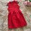 ชุดเดรสสีแดง แขนกุด ตัวเสื้อผ้าถักโครเชต์ลายดอกไม้ คอจีน thumbnail 6