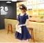 ชุดเดรสน่ารัก ผ้าชีฟองชนิดเนื้อทราย สีน้ำเงิน thumbnail 5