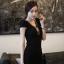 ชุดเดรสคอวี เข้ารูป สีดำ เดรสแฟชั่นเกาหลี นำเข้า สวยมากๆ ซื้อเป็นของขวัญให้แฟนเหมาะมากๆ ครับ New!! (พร้อมส่ง) thumbnail 5