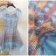 ชุดเดรสสวยๆ ผ้าชีฟอง สีฟ้า พิมพ์ลายการ์ตูน น่ารักมากๆ thumbnail 7
