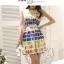 เสื้อผ้าแฟชั่นเกาหลี set 2 ชิ้น เสื้อและกระโปรง ผ้าคอตตอนผสมสีสันสดใส สวยสดใสครับ thumbnail 8