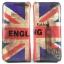 พร้อมส่ง AB-7001-1 สีน้ำเงิน กระเป๋าสตางค์ใบยาว พร้อมสายคล้องมือลายธงชาติอังกฤษ thumbnail 1