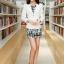 เสื้อสูททำงาน แฟชั่นเกาหลี สีขาว แขนยาว เข้ารูป คอปกแต่งสีดำเก๋ งานสวยดีไซน์เก๋มากๆ thumbnail 4