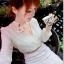 ชุดแซกสั้น Brand Qian Bai ชุดเดรสชุดแซกงานพรีเมี่ยม ตัวเสื้อผ้าชีฟองเนื้อดีสีครีม แขนยาว กระโปรงผ้าถักโครเชต์อย่างดี สวยมากๆครับ (พร้อมส่ง) thumbnail 7