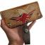 กระเป๋าสตางค์ยาว สีน้ำตาล ลวดลาย นกอินทรีย์ และรูปธงชาติอังกฤษ แบบ 2 พับ พร้อมโซ่ thumbnail 3