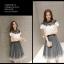 แฟชั่นเกาหลี set เสื้อและกระโปรง สวยน่ารักมากๆ thumbnail 8