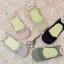 S425 **พร้อมส่ง** (ปลีก+ส่ง) ถุงเท้าคัทชู สีล้วนและลายจุด เนื้อค๊อตต้อน แต่งลูกไม้ คละสี มี 12 คู่ต่อแพ็ค เนื้อดี งานนำเข้า(Made in China) thumbnail 2