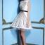 ชุดเดรสออกงาน Yiyi ชุดเดรสสั้น ดีไซน์เก๋ ตัวชุดเป็นผ้าโปร่ง เย็บลายเส้นสีดำไขว้กันไปมา ทั้งชุดหน้าหลัง ซับในด้วยผ้าซาตินสีขาว thumbnail 4