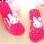 K020-DPK **พร้อมส่ง** (ปลีก+ส่ง) รองเท้านวดสปา เพื่อสุขภาพ ปุ่มใหญ่สลับเล็ก (การ์ตูน) สีชมพูเข้ม ส่งคู่ละ 150 บ. thumbnail 1
