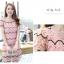 ชุดเดรสสวยๆ ผ้าถักโครเชต์ สีชมพู สวยหวาน thumbnail 2