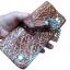 กระเป๋าสตางค์ยาว หนังวัวแท้ ลวดลาย กนก ประณีต สวยงาม เป็นกระเป๋าสตางค์แบบ 2 พับ พร้อมโซ่ thumbnail 2