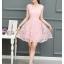 ชุดเดรสผ้าลูกไม้ ปักลายดอกไม้ปักสีชมพูโอรส แขนกุด เดรสเข้ารูปช่วงเอว thumbnail 7