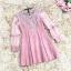 ชุดเดรสสวยๆ ผ้าสักหลาดเนื้อนิ่ม สีชมพูตุ่น แขนยาว thumbnail 7