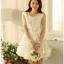 ชุดเดรสสั้น SAI NA ชุดเดรสผ้าลายดอกไม้สีขาวสุดหรู แขนบ่าล้ำ ชายกระโปรงและปลายแขนเสื้อ เป็นผ้ารูปดอกไม้สวยมากๆ ครับ thumbnail 3
