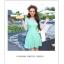 ชุดว่ายน้ำวันพีช สีเขียว แขนสั้น ช่วงไหล่ และแขนเสื้อเป็นผ้าทอเนื้อบาง thumbnail 7