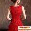 Pre-Order ชุดราตรีสั้น ชุดราตรีสีแดง แขนกุด ผ้าลูกไม้อย่างดี เหมาะใส่เป็นชุดออกงาน ชุดไปงานแต่งงานมากๆ สินค้า เกรด A thumbnail 6