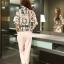 แฟชั่นเกาหลี set เสื้อ และกางเกงขายาว น่ารักมากๆ thumbnail 8