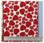 ผ้าแคนวาส ลายสตรอเบอรี่ หัวใจ สีแดง พื้นขาว 1/2 เมตร thumbnail 1