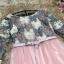 ชุดเดรสสวยๆ ตัวเสื้อผ้าถักโครเชต์ลายดอกไม้ 3 สี (เทา ครีม และชมพูกะปิ) แขนยาว thumbnail 10