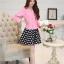 แฟชั่นเกาหลี set เสื้อสูท สีชมพู และกระโปรง สวยมากๆ thumbnail 6