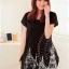 เสื้อยืดแฟชั่นตัวยาว (ผ้าเนื้อนุ่ม) ลาย จิงโจ้ สีดำ thumbnail 1
