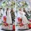 ชุดเดรสสไตล์เจ้าหญิง ผ้าลูกไม้ปักลายสีขาว งานปักละเอียดสวยมากๆ thumbnail 10