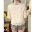 เสื้อผ้าลูกไม้ สีขาว แขนยาว คอเสื้อแต่งด้วยผ้าถักโครเชต์ลายตามแบบ ชายปล่อย thumbnail 8
