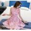 ชุดเดรสสวยๆ แขนกุด ตัววัสดุผ้าพิเศษมากๆ เป็นผ้าไหมแก้ว organza สีขาว thumbnail 5