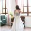 ชุดเดรสยาว Yi Qing โบฮีเมียนเดรส ผ้าชีฟอง ตัวเสื้อพิมพ์ลายกราฟฟิกสีสดใส กระโปรงสีขาว แต่งเส้นหยักสีดำสวยมากๆ thumbnail 4