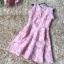 ชุดเดรสสวยๆ แขนกุด ตัววัสดุผ้าพิเศษมากๆ เป็นผ้าไหมแก้ว organza สีขาว thumbnail 8